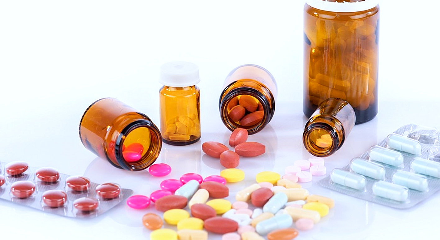 pills and bottles of medicine